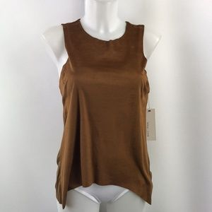 Bishop + Young Brown Solid Tank Size Small